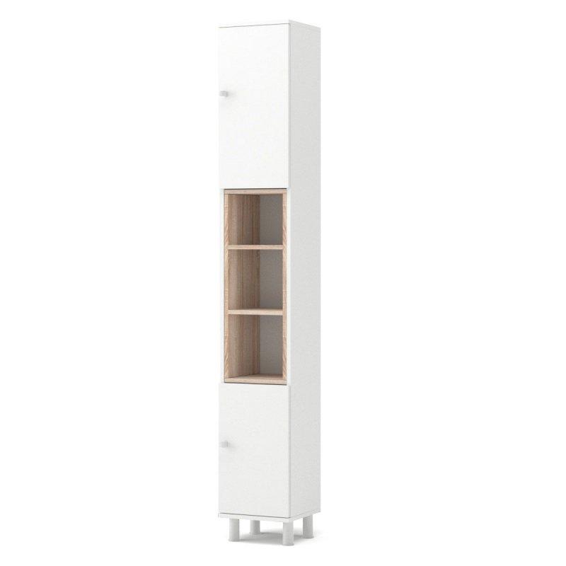 """Στήλη μπάνιου """"LOTUS"""" σε χρώμα λευκό-σονόμα 30x30x200"""