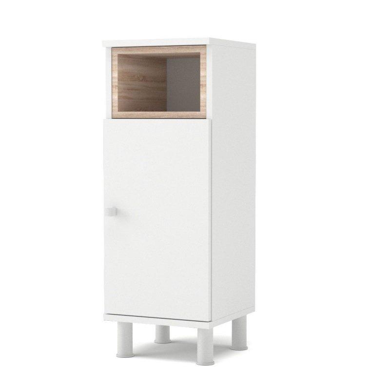 """Ντουλάπι μπάνιου """"LOTUS"""" σε χρώμα λευκό-σονόμα 30x30x81.80"""