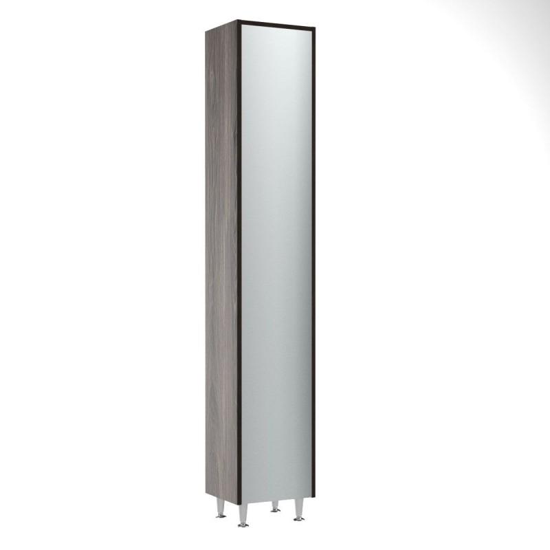 """Στήλη μπάνιου """"SIRIUS"""" με καθρέπτη σε βέγγε-λευκό χρώμα 35,5x30x190"""