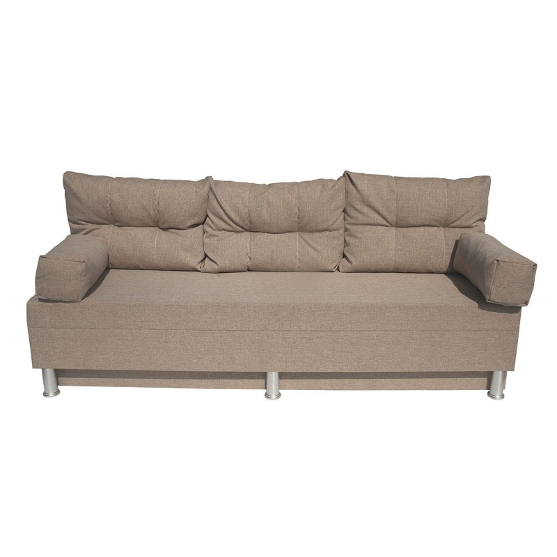 """Καναπές-κρεβάτι """"KSENIA"""" με αποθηκευτικό χώρο υφασμάτινος σε μπεζ χρώμα 190x72x80"""