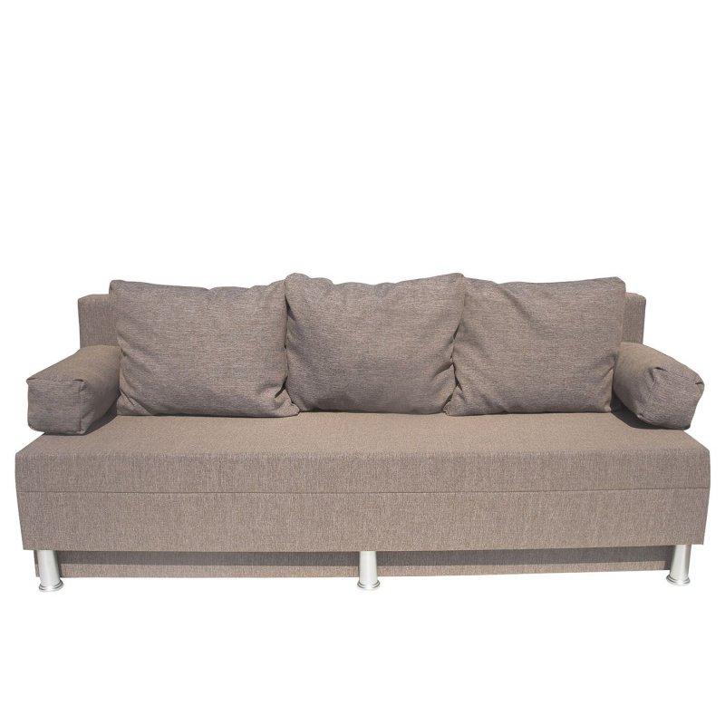 """Καναπές-κρεβάτι """"KIVAR"""" υφασμάτινος με αποθηκευτικό χώρο σε μπεζ χρώμα 190x72x80"""
