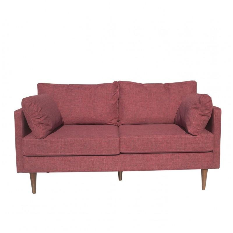"""Καναπές διθέσιος """"PATHE"""" υφασμάτινος σε κόκκινο χρώμα 150x80x85"""