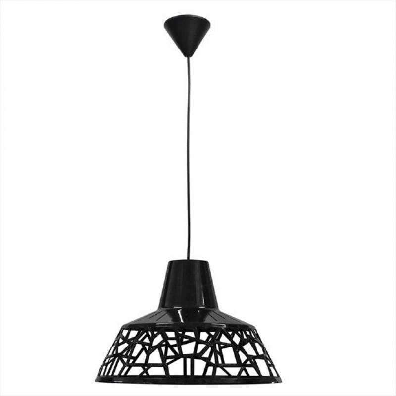 Φωτιστικό μονόφωτο πλαστικό σε χρώμα μαύρο Φ34