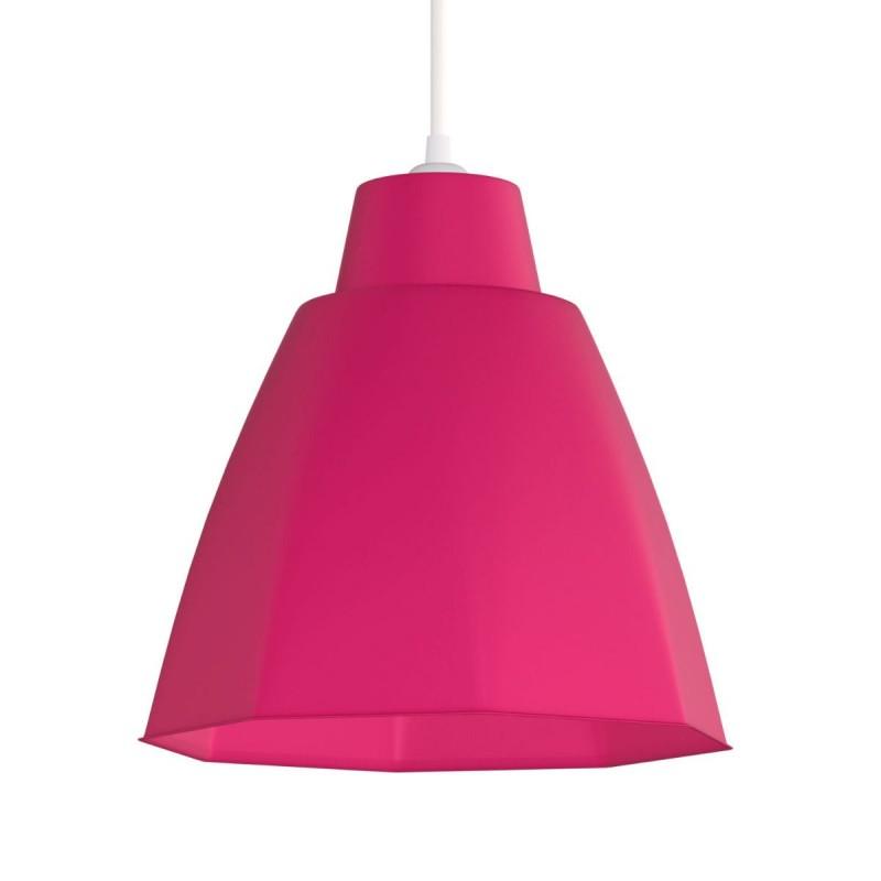 Φωτιστικό μονόφωτο πλαστικό σε χρώμα ροζ Φ19