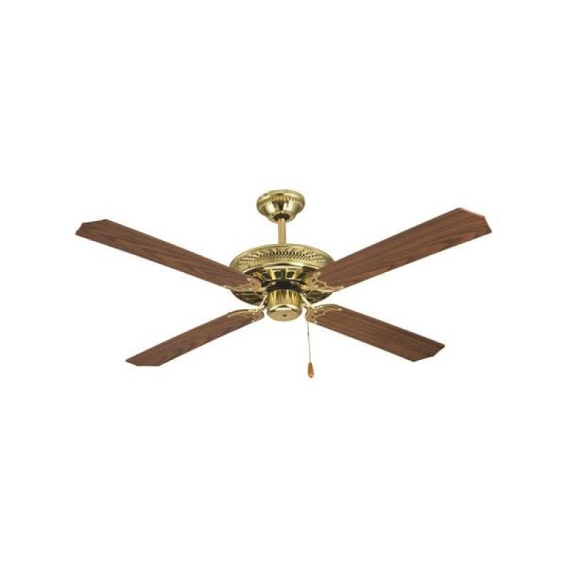 """Ανεμιστήρας οροφής """"COOL WAVE"""" σε χρώμα καφέ/χρυσό Φ130x40"""