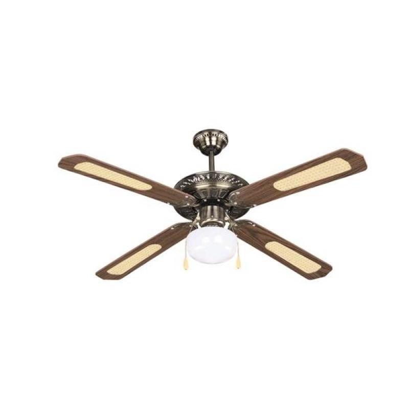 """Ανεμιστήρας οροφής """"COOL WAVE"""" σε χρώμα καφέ/χρυσό Φ130x45"""