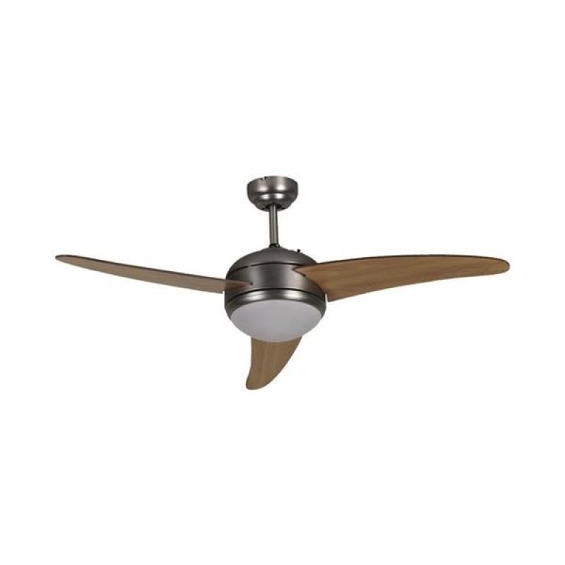 """Ανεμιστήρας οροφής """"COOL WAVE"""" σε χρώμα καφέ Φ120x45"""