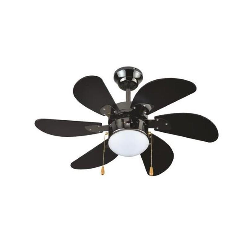"""Ανεμιστήρας οροφής """"COOL WAVE"""" σε χρώμα μαύρο Φ90x45"""