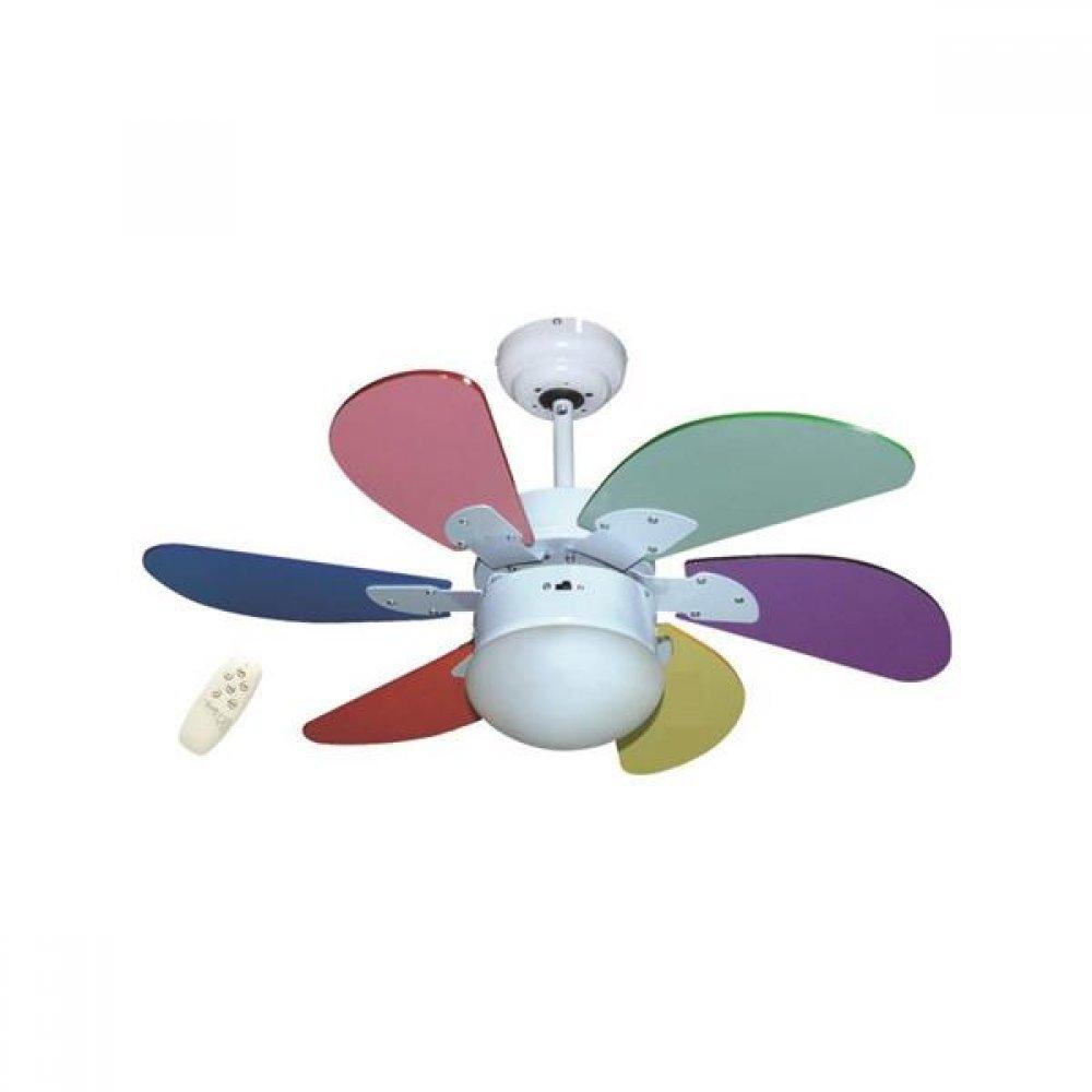 """Ανεμιστήρας οροφής παιδικός """"COOL WAVE"""" σε χρώμα πολύχρωμο Φ90x45"""