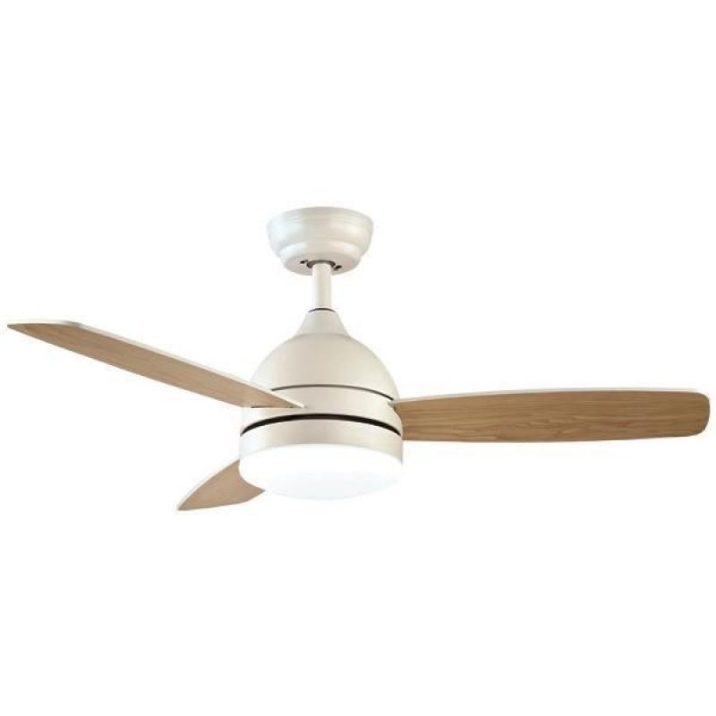 """Ανεμιστήρας οροφής """"COOL WAVE"""" σε χρώμα λευκό/ξύλο Φ107x38"""
