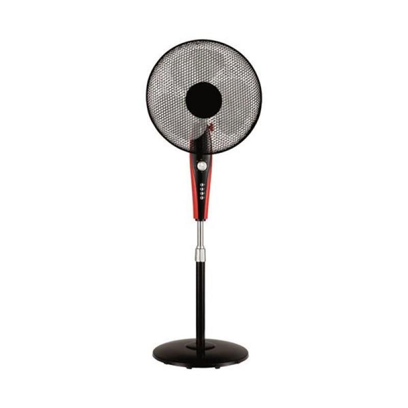 """Ανεμιστήρας δαπέδου """"COOL WAVE"""" σε χρώμα μαύρο/κόκκινο Φ40x130"""
