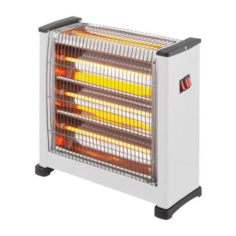 Θερμάστρα χαλαζία 2800W 3face σε λευκό χρώμα 45x16x43.30