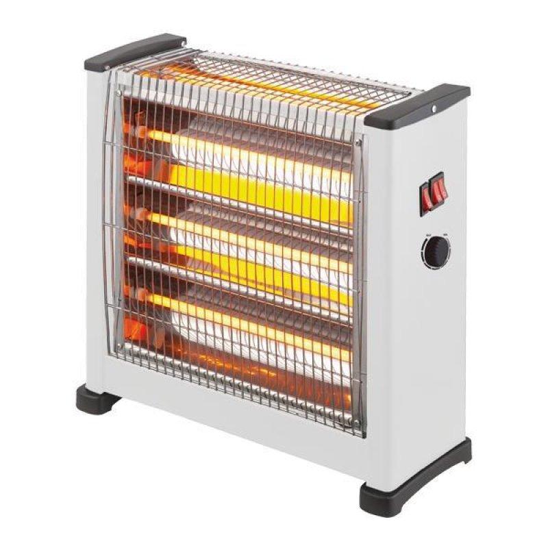Θερμάστρα χαλαζία 2800W 3face σε λευκό χρώμα με θερμοστάση 43.30x16x45