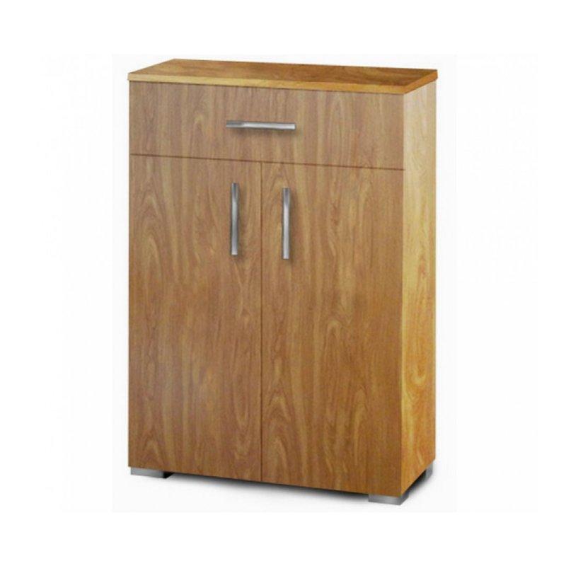 Παπουτσοθήκη-ντουλάπι με ράφια σε χρώμα ανιγκρε 60x33x92
