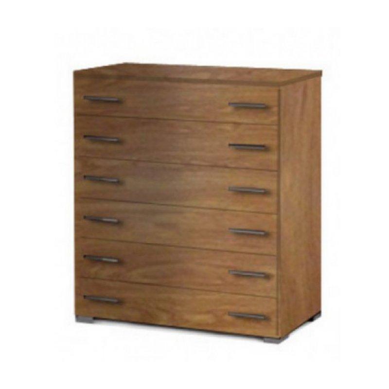 Συρταριέρα με 6 συρτάρια σε χρώμα ανυγκρε 90x45x108