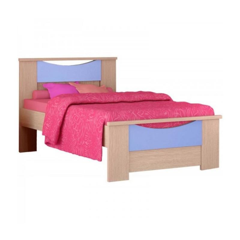 """Παιδικό κρεβάτι """"ΧΑΜΟΓΕΛΟ"""" ημίδιπλο σε χρώμα δρυς-σιέλ 110x190"""