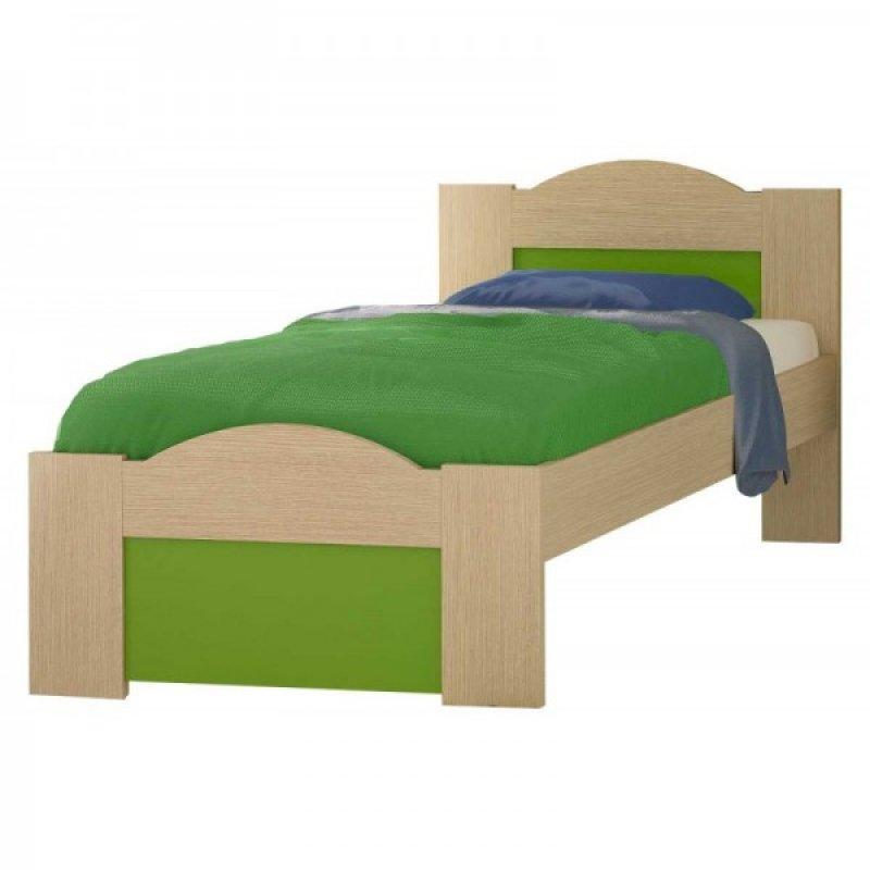 """Παιδικό κρεβάτι """"ΚΥΜΑ"""" ημίδιπλο σε χρώμα δρύς-λαχανί 110x190"""