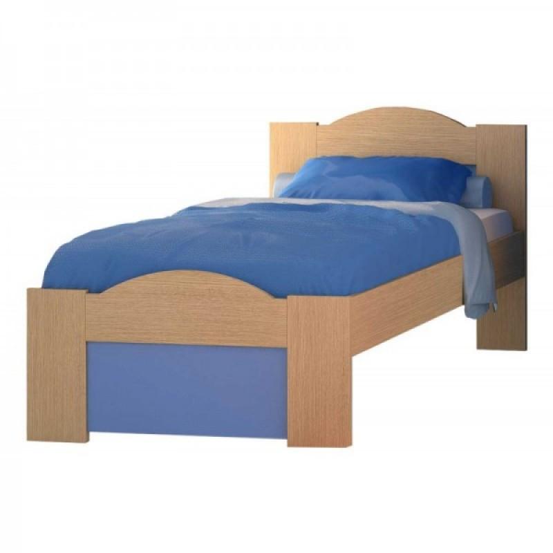 """Παιδικό κρεβάτι """"ΚΥΜΑ"""" ημίδιπλο σε χρώμα δρύς-σιέλ 110x190"""