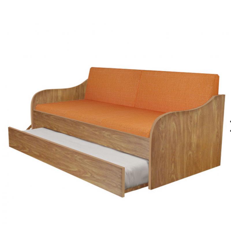 """Κρεβάτι-καναπές """"SILKY"""" με συρρόμενο κρεβάτι σε χρώμα ανιγκρέ 190x80"""