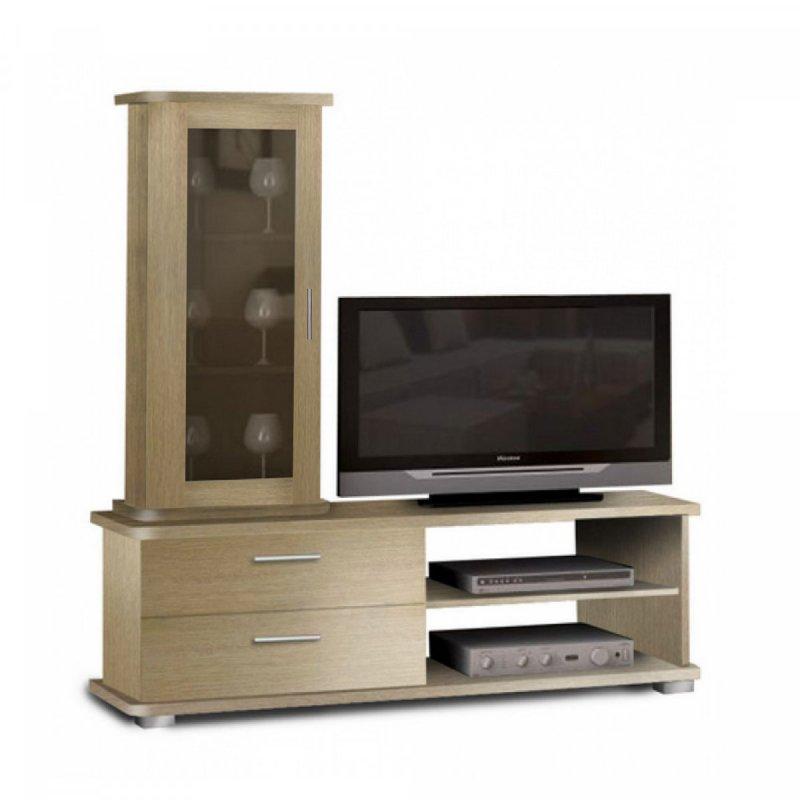 """Σύνθεση τηλεόρασης """"ΝΕΦΕΛΗ"""" σε χρώμα δρυς 135x45x140"""