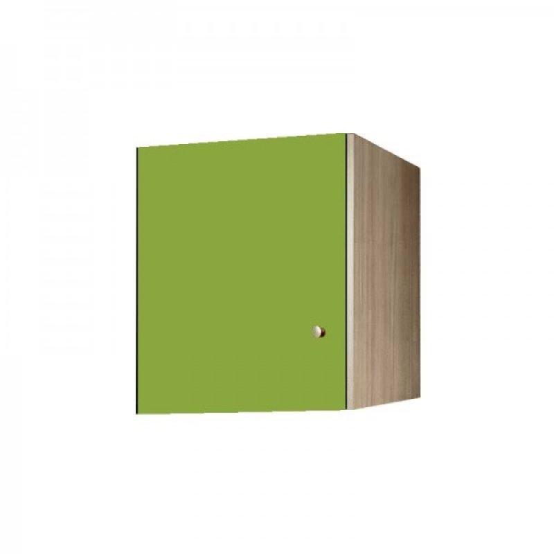 Πατάρι ντουλάπας μονόφυλλο σε χρώμα δρυς-λαχανί 48x50x60