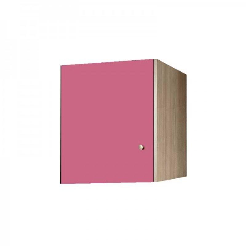 Πατάρι ντουλάπας μονόφυλλο σε χρώμα δρυς-ροζ 48x50x60
