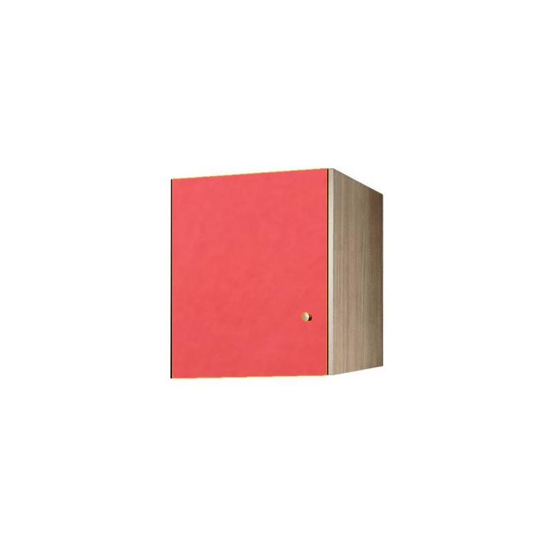 Πατάρι ντουλάπας μονόφυλλο σε χρώμα δρυς-πορτοκαλί 48x50x60