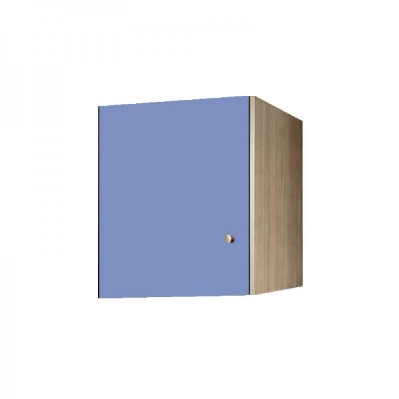Πατάρι ντουλάπας μονόφυλλο σε χρώμα δρυς-σιελ 48x50x60