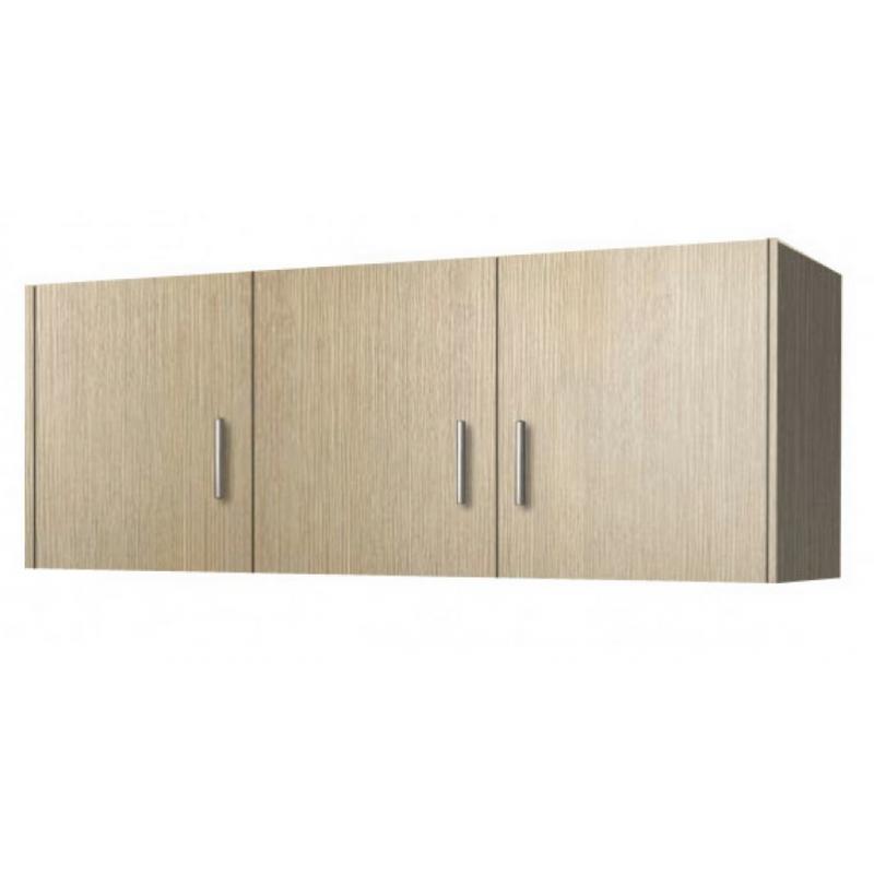 Πατάρι ντουλάπας τρίφυλλο σε χρώμα δρυς 110x50x60