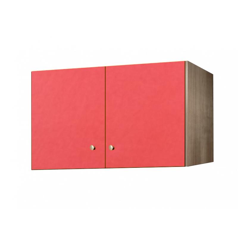 Πατάρι ντουλάπας δίφυλλο σε χρώμα δρυς-πορτοκαλί 85x50x60