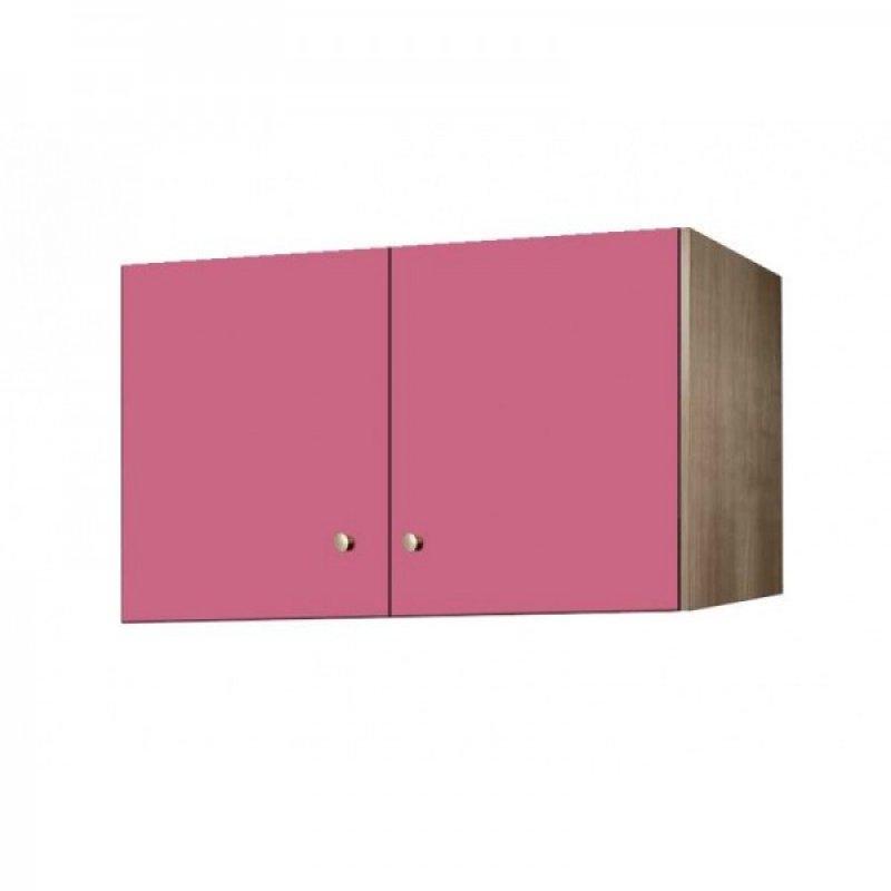 Πατάρι ντουλάπας δίφυλλο σε χρώμα δρυς-ροζ 85x50x60