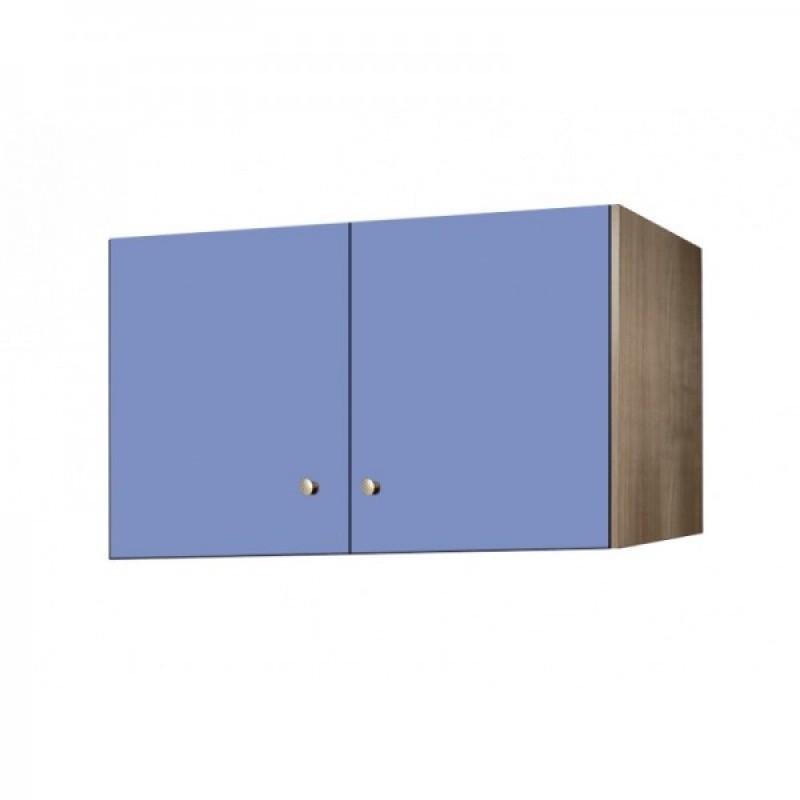 Πατάρι ντουλάπας δίφυλλο σε χρώμα δρυς-σιέλ 105x50x60
