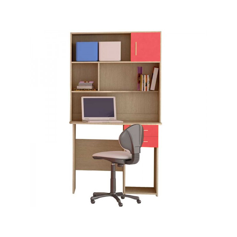 Παιδικό γραφείο με εταζέρα σε χρώμα δρυς-πορτοκαλί