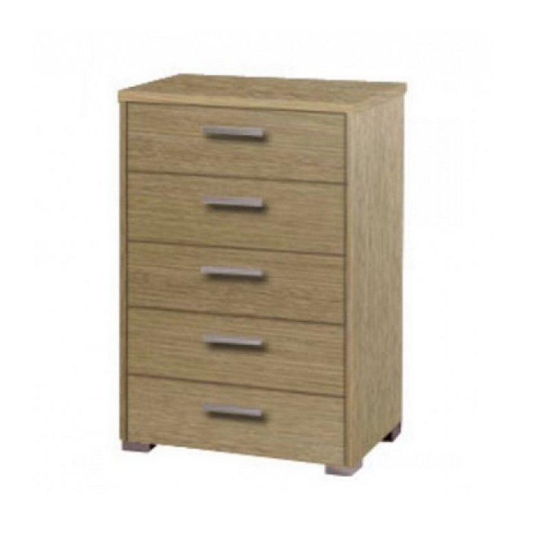 Συρταριέρα με 5 συρτάρια σε χρώμα δρυς 60x45x90