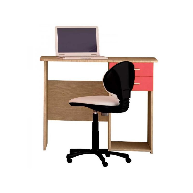 Παιδικό γραφείο σε χρώμα δρυς-πορτοκαλί 100x55x80