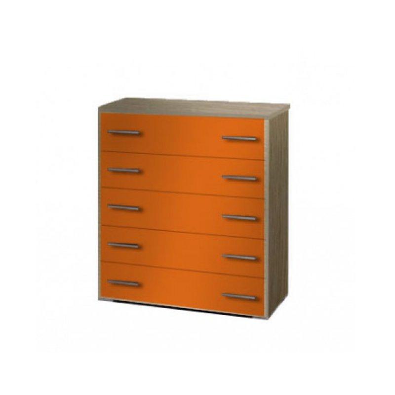 Συρταριέρα παιδική σε χρώμα δρυς-πορτοκαλί 80x45x90