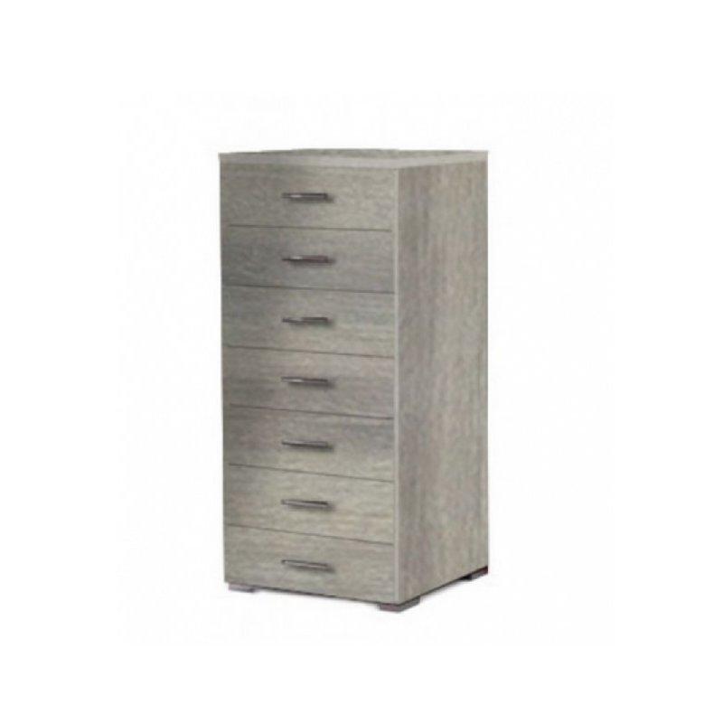 Συρταριέρα με 7 συρτάρια σε σταχτί χρώμα 60x45x123