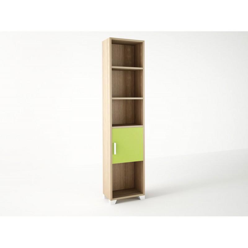Βιβλιοθήκη παιδική σε χρώμα δρυς-λαχανί 40x30x180