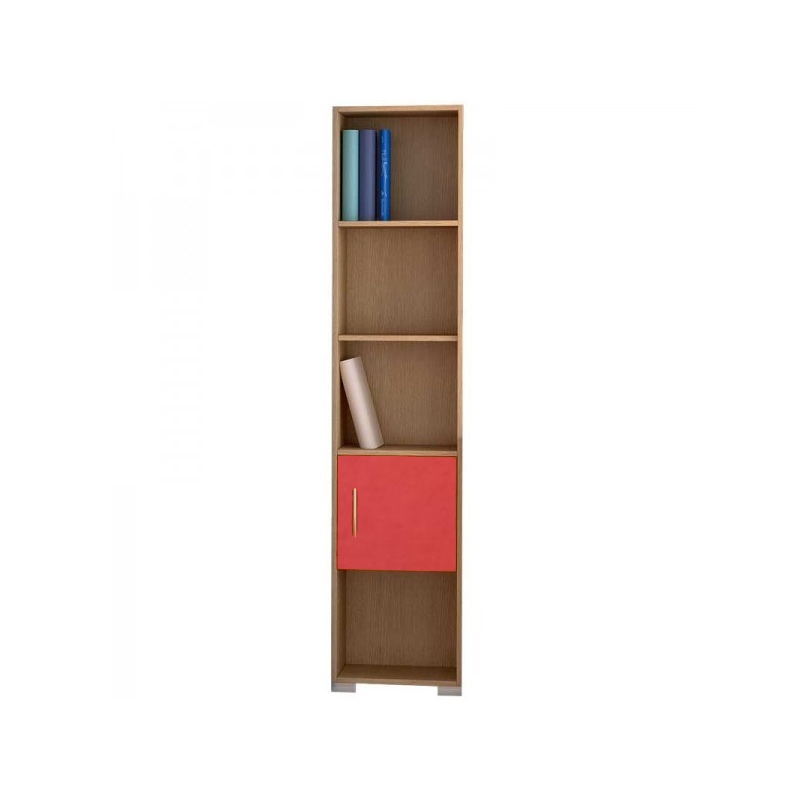 Βιβλιοθήκη παιδική χρώμα σε δρυς-πορτοκαλί 40x30x180