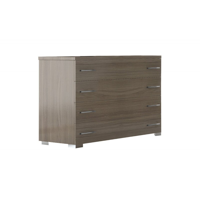 Συρταριέρα με 4 συρτάρια σε χρώμα σταχτί 100x39x73