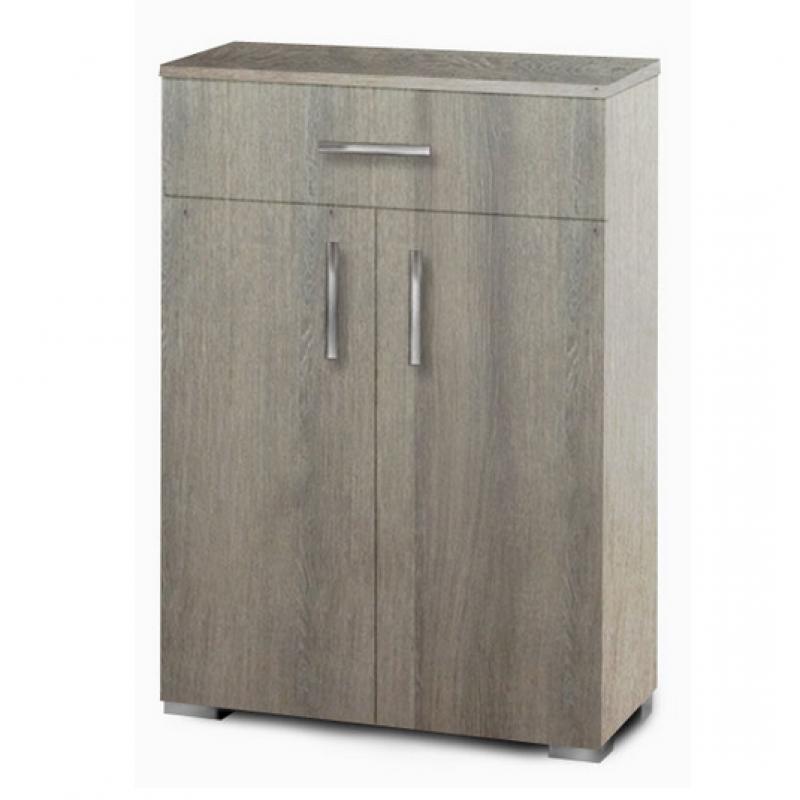 Παπουτσοθήκη-ντουλάπι με ράφια σε χρώμα σταχτί 60x33x92
