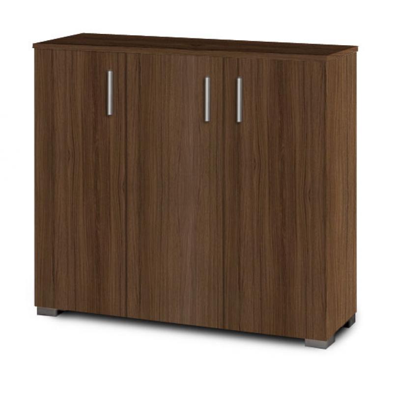 Παπουτσοθήκη-ντουλάπι σε χρώμα καρυδί 100x36x92