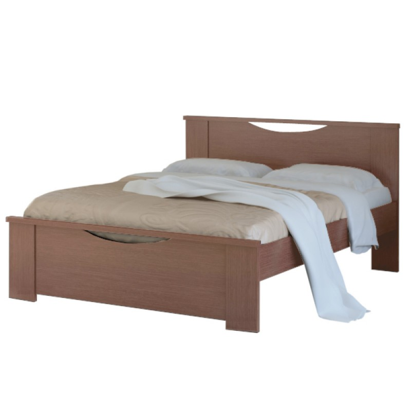 """Κρεβάτι """"ΧΑΜΟΓΕΛΟ"""" ημίδιπλο σε χρώμα καρυδί 110x190"""