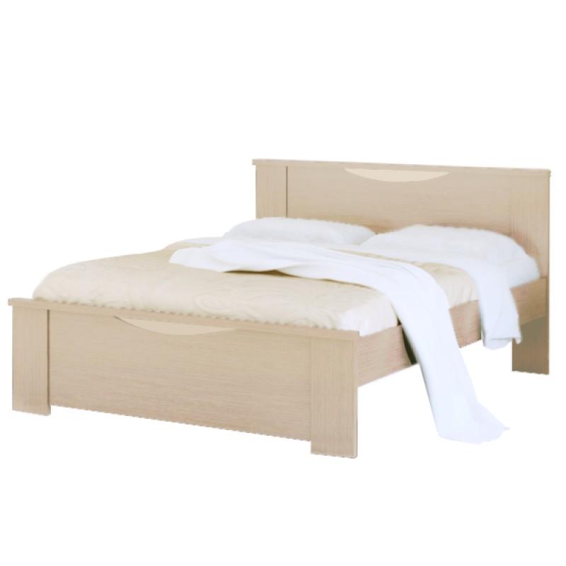 """Κρεβάτι """"ΧΑΜΟΓΕΛΟ"""" διπλό σε χρώμα δρυς 140x190"""