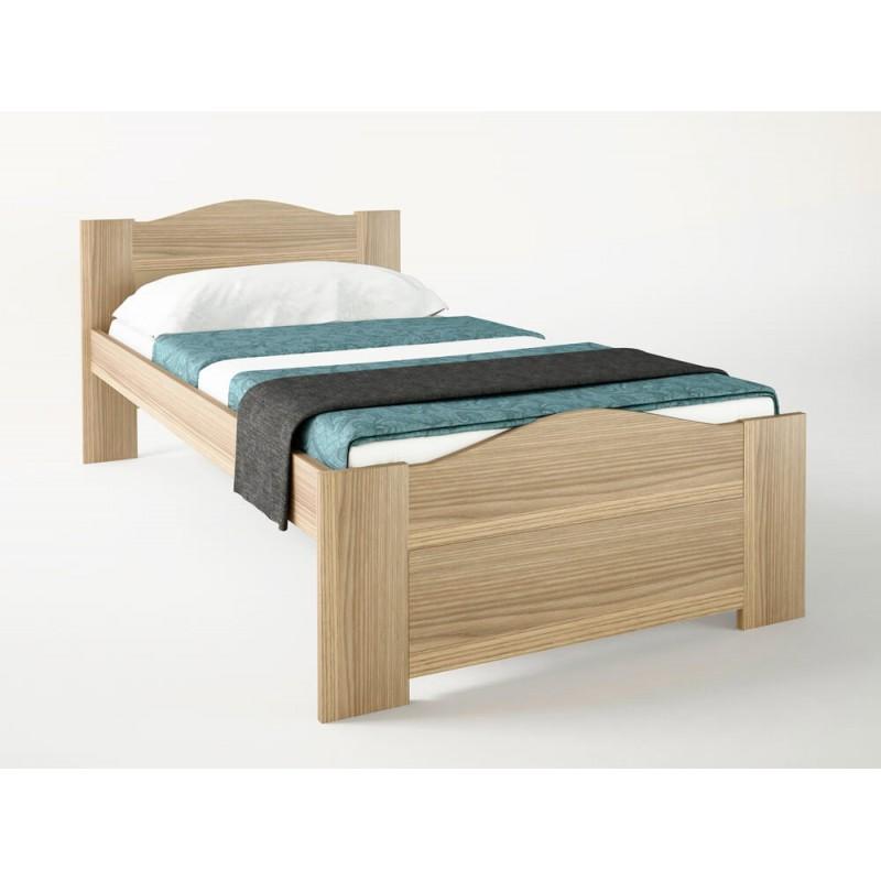 """Κρεβάτι """"ΚΥΜΑ"""" μονό σε χρώμα δρυς 90x190"""