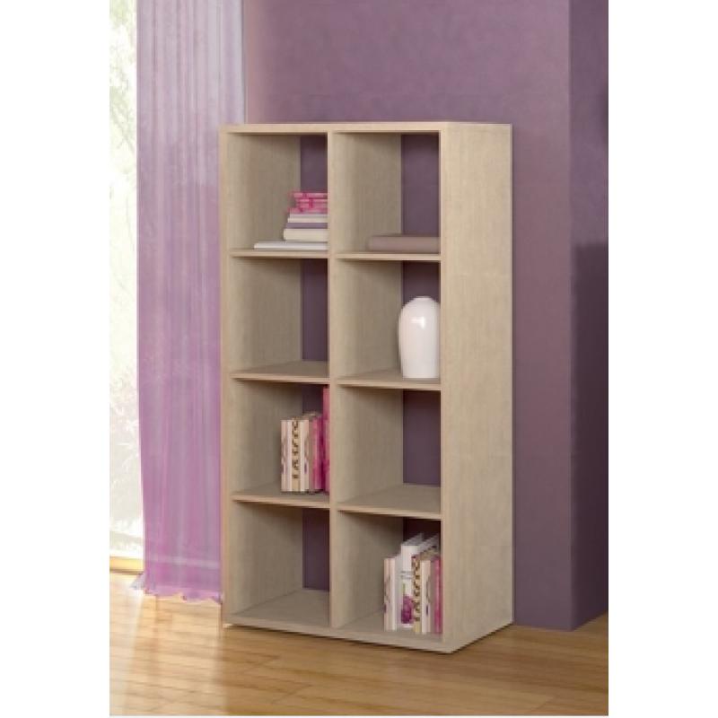Βιβλιοθήκη σε χρώμα δρυς 75x35x145