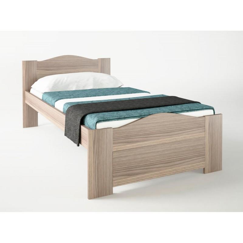 """Κρεβάτι """"ΚΥΜΑ"""" μονό σε χρώμα σταχτί 90x190"""