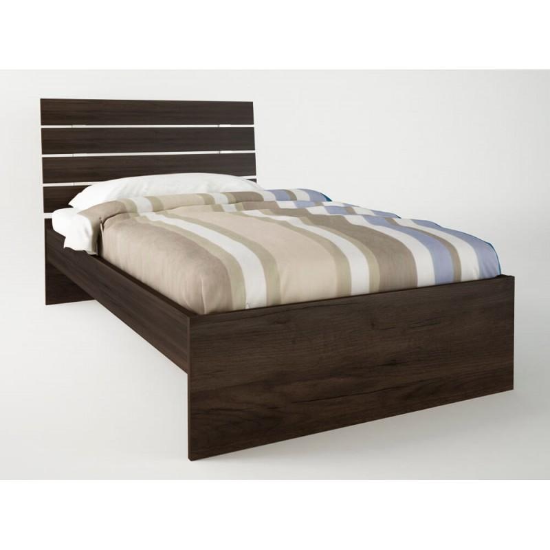 """Κρεβάτι """"ΝΟΤΑ"""" μονό σε χρώμα βέγγε 90x190"""