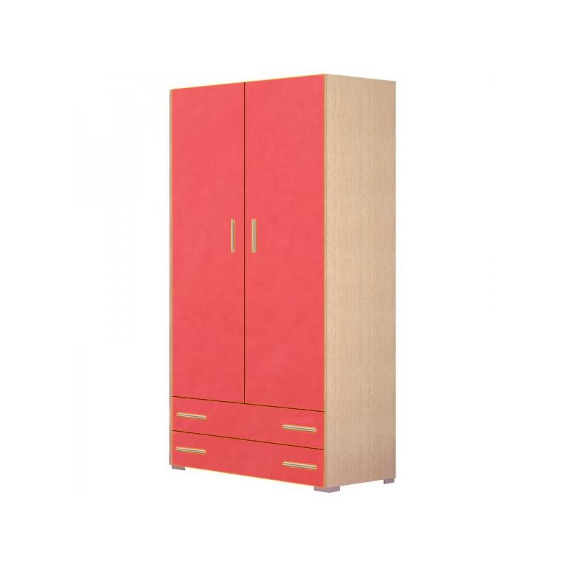 Ντουλάπα παιδική δίφυλλη σε χρώμα δρυς-πορτοκαλί 105x50x180