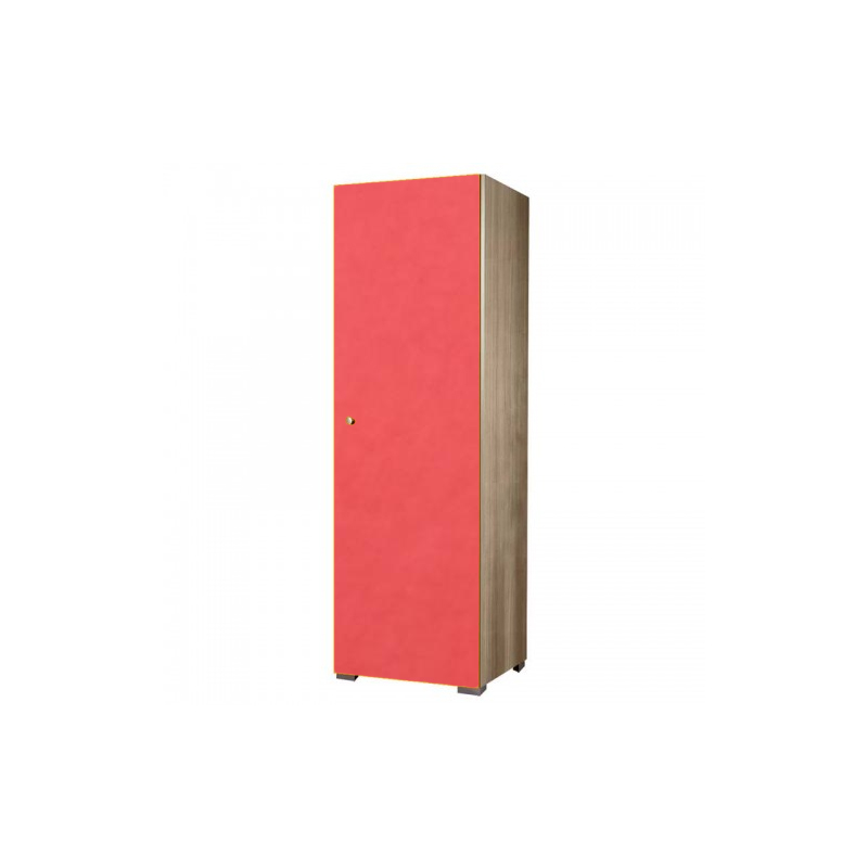 Ντουλάπα παιδική μονόφυλλη σε χρώμα δρυς-πορτοκαλί 48x50x180